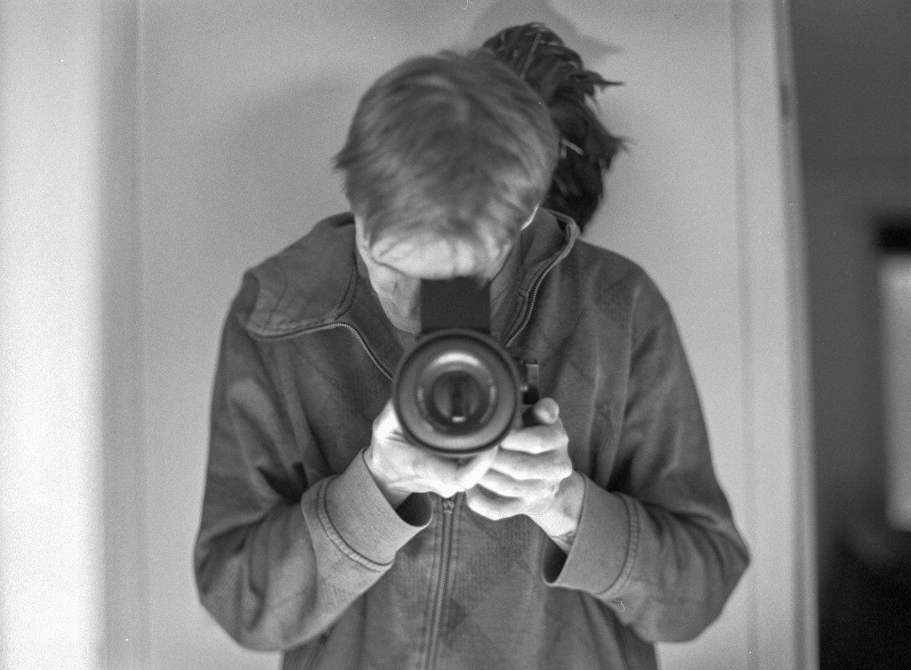 Mirror selfie with the Mamiya645.