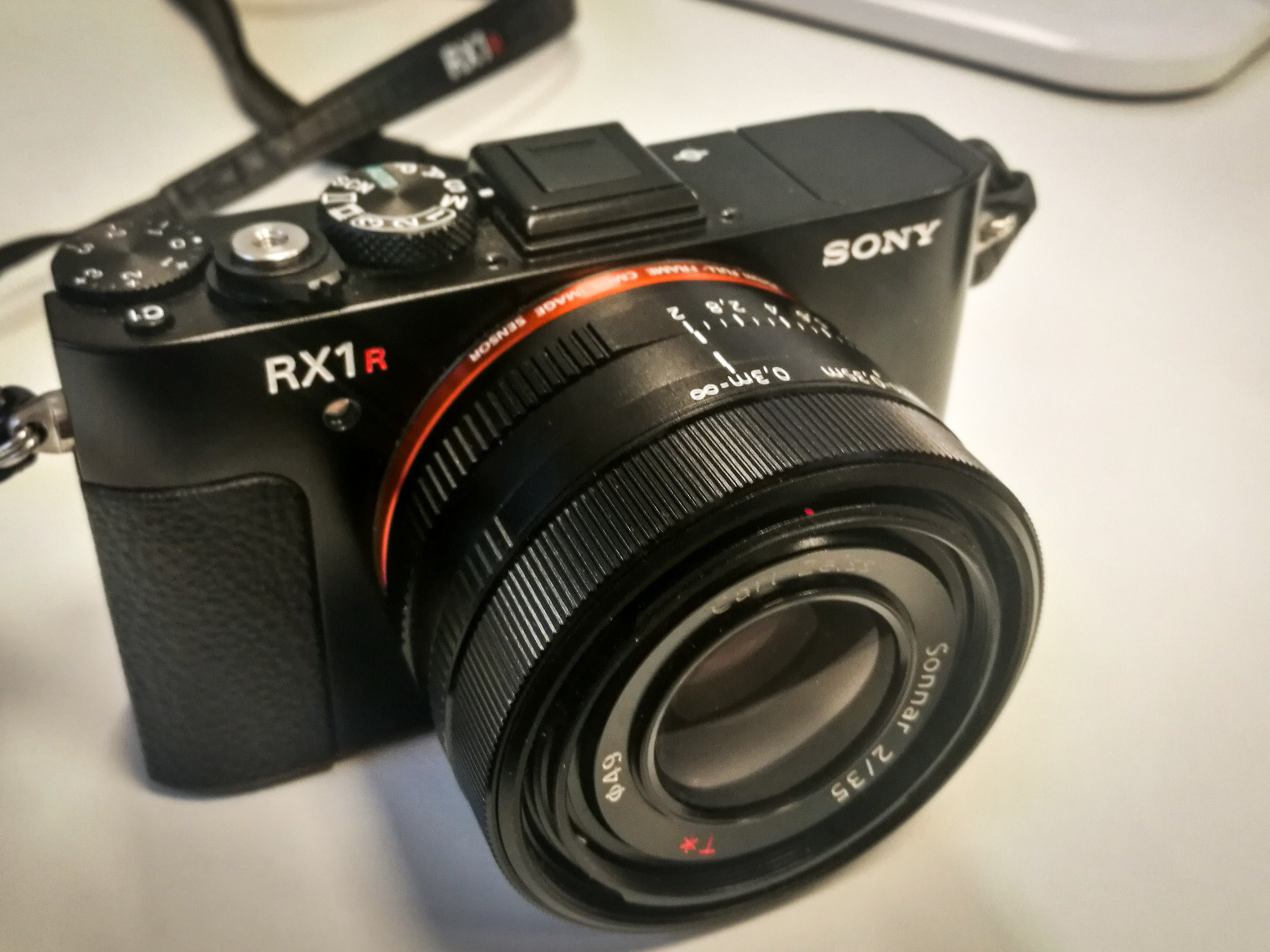 The small Sony RX1r mark ii.