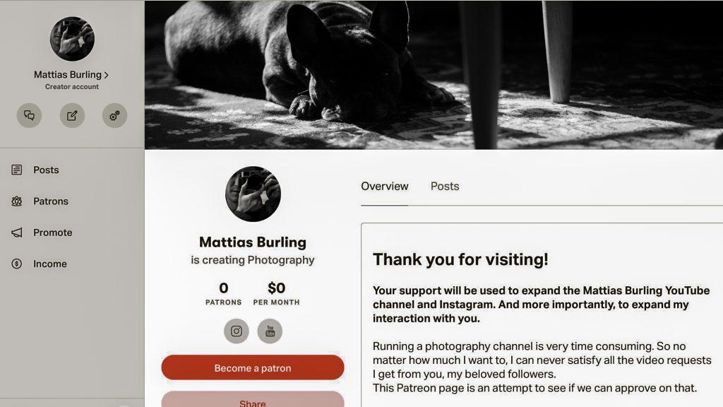 Mattias Burling Patreon