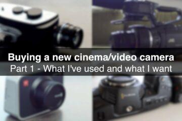New Cinema Camera Part 1